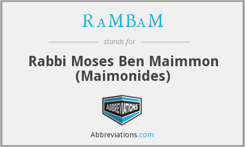 What does RAMBAM stand for?