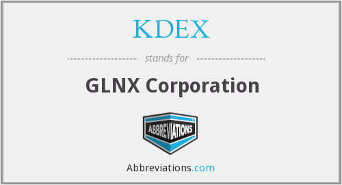 What does KDEX stand for?