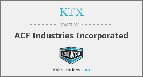 What does KTX stand for?