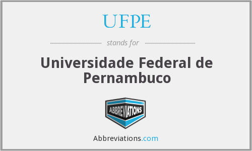 What does UFPE stand for?