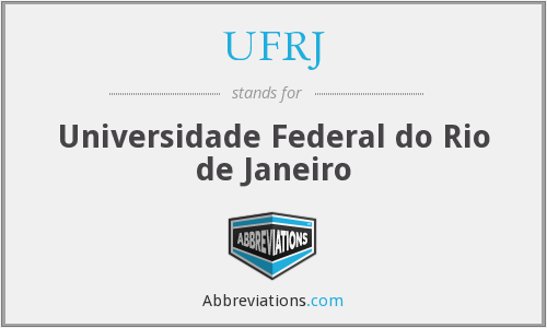 What does UFRJ stand for?