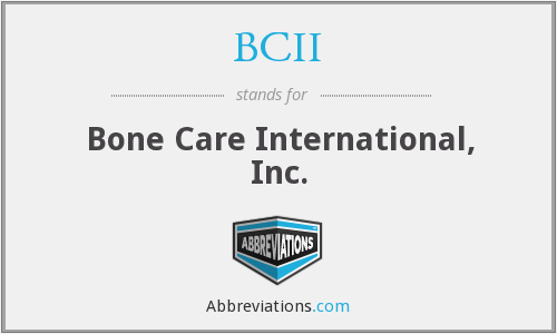 What does BCII stand for?