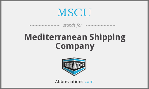 What does MSCU stand for?