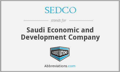 What does SEDCO stand for?