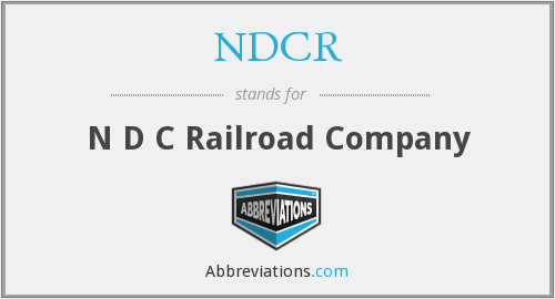 What does NDCR stand for?