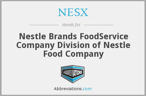 What does NESX stand for?
