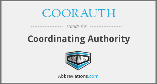 What does COORAUTH stand for?