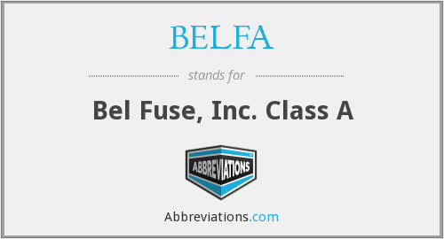 What does BELFA stand for?