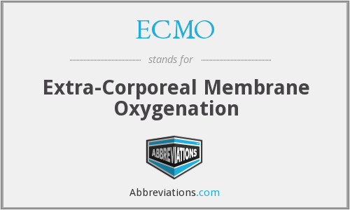 What does ECMO stand for?