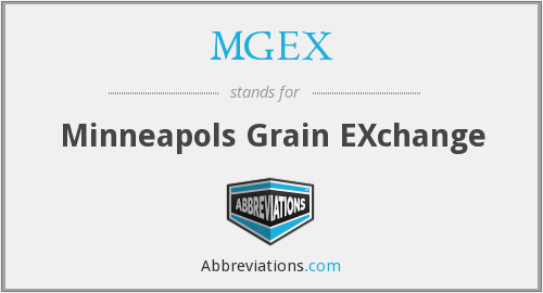 What does MGEX stand for?
