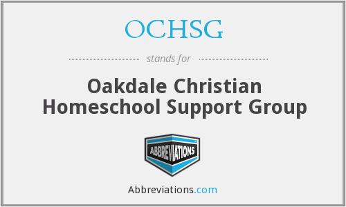 What does OCHSG stand for?