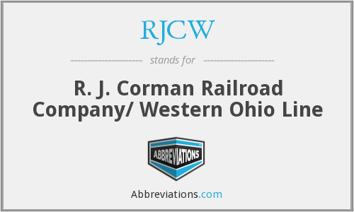 What does RJCW stand for?