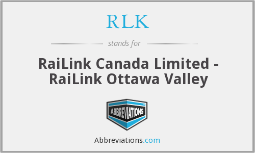 What does RLK stand for?