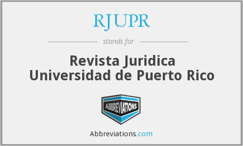 What does RJUPR stand for?