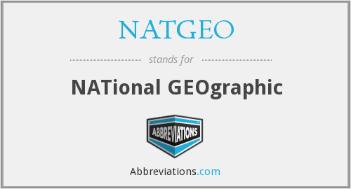 What does NATGEO stand for?