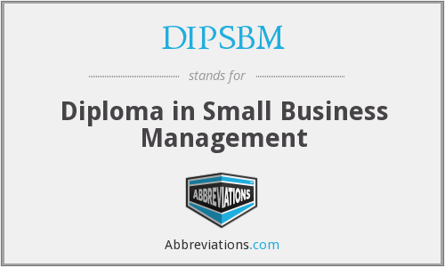 What does DIPSBM stand for?