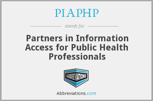 What does PIAPHP stand for?