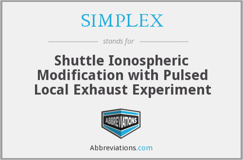 What does SIMPLEX stand for?