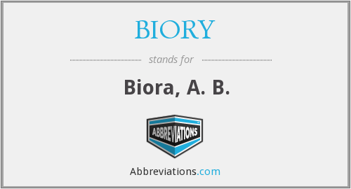What does BIORY stand for?