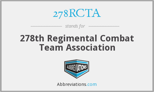 What does 278RCTA stand for?