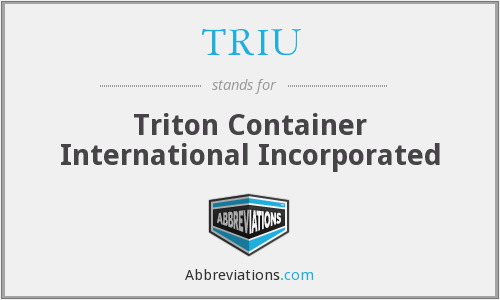 What does TRIU stand for?