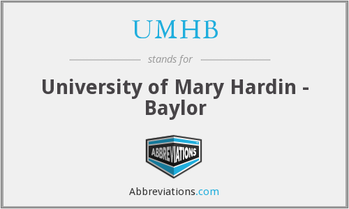 What does UMHB stand for?