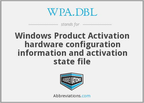What does WPA.DBL stand for?