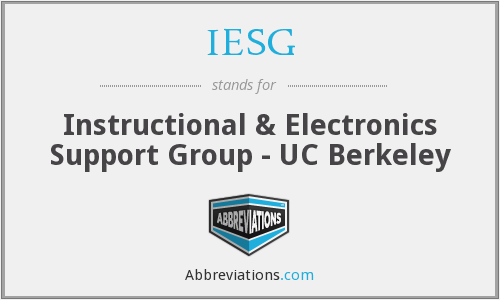 What does IESG stand for?
