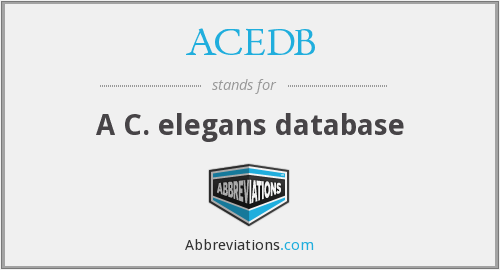 What does ACEDB stand for?