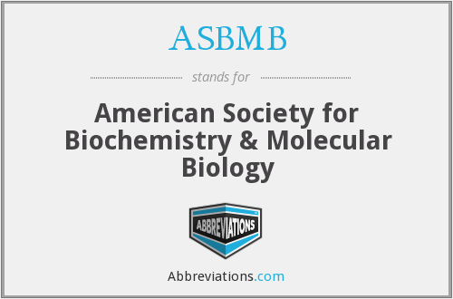 What does ASBMB stand for?