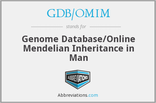 What does GDB/OMIM stand for?