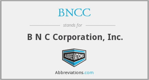 What does BNCC stand for?