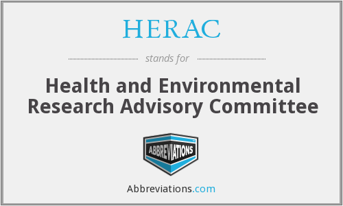 What does HERAC stand for?