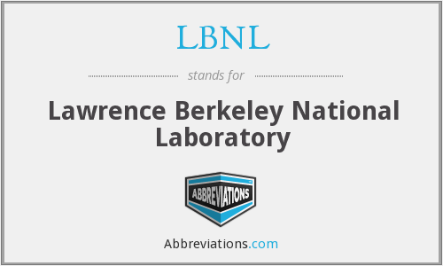 What does LBNL stand for?