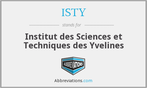 What does ISTY stand for?