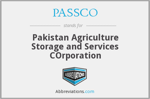 What does PASSCO stand for?