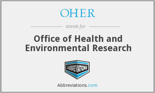 What does OHER stand for?