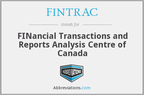 What does FINTRAC stand for?