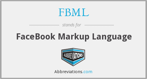 What does FBML stand for?