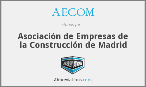 What does AECOM stand for?