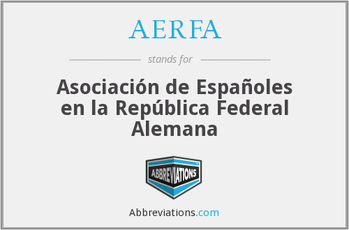 What does AERFA stand for?