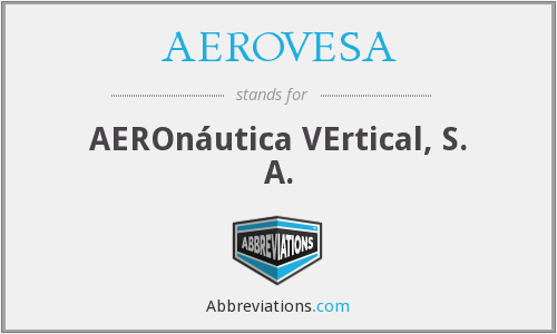 What does AEROVESA stand for?