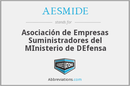 What does AESMIDE stand for?