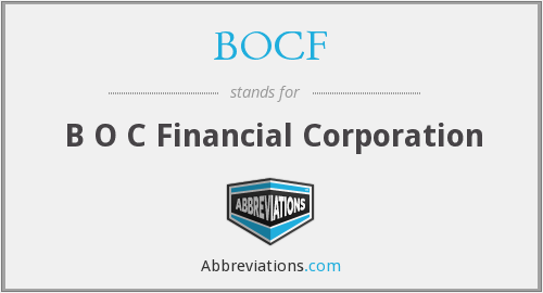 What does BOCF stand for?