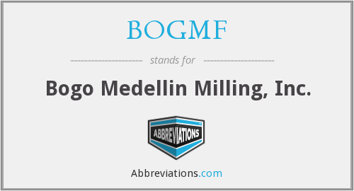 What does BOGMF stand for?