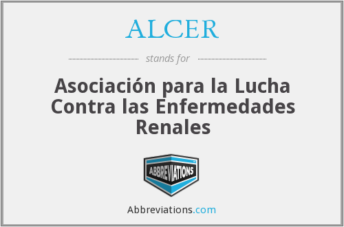What does ALCER stand for?