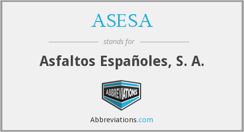 What does ASESA stand for?
