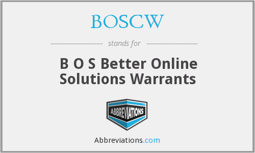 What does BOSCW stand for?