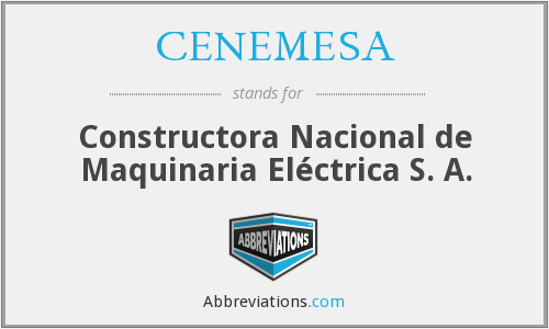 What does CENEMESA stand for?