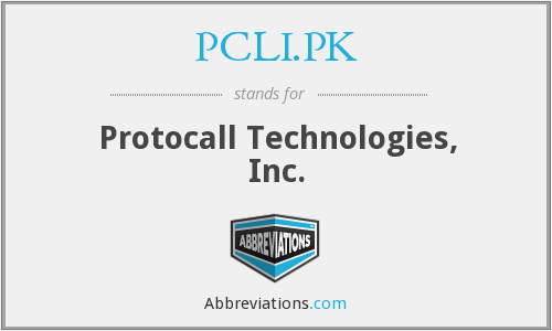 What does PCLI.PK stand for?